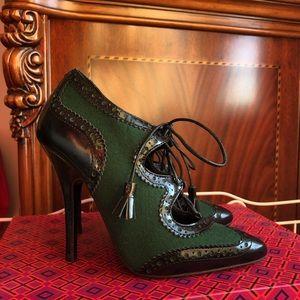 Tory Burch Oxford emerald green heels